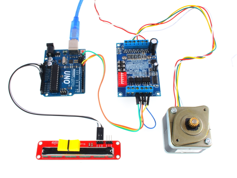 Arduino control a dc or stepper motor from a for Arduino and stepper motor