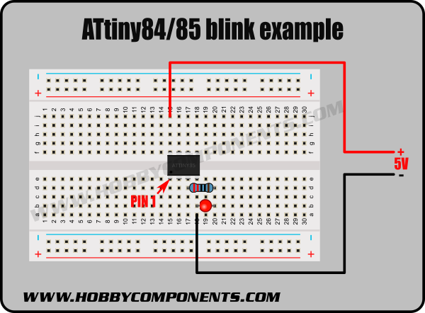 ATTiny85_Blink_Diagram
