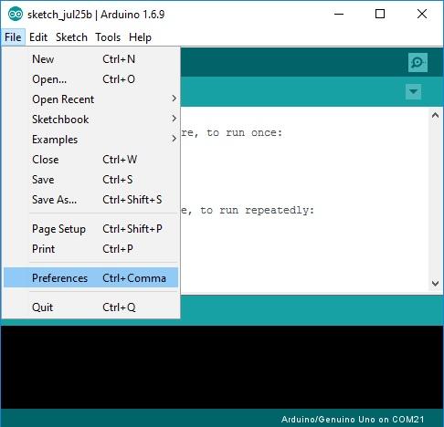 ESP8266_Arduino_IDE_File_Menu